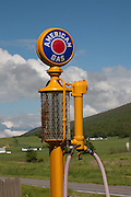 "Antique ""American Gas"" glass gas pump on a farm near Sweet Springs West Virginia May 2011"