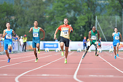 04/08/2017; Bagaini, Riccardo, T47, ITA, Ruan de Moraes, Thomaz, F47, BRA, Grolla, Phil, F46, GER, Mahlangu, Ntando, F42, RSA, Frezza, Elia at 2017 World Para Athletics Junior Championships, Nottwil, Switzerland