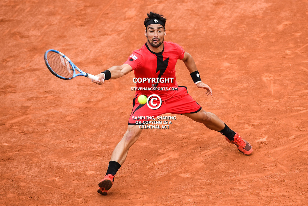 Fabio Fognini (Italia) during Day 9 for the French Open 2018 on June 4, 2018 in Paris, France. (Photo by Anthony Dibon/Icon Sport)