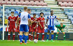WIGAN, ENGLAND - Friday, July 14, 2017: Liverpool's goalkeeper Simon Mignolet in action against Wigan Athletic during a preseason friendly match at the DW Stadium. (Pic by David Rawcliffe/Propaganda)