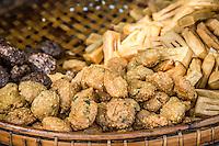 Snacks on the streets of Burma.