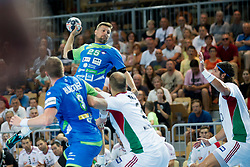Marko Bezjak of Slovenia during handball game between Man National Teams of Slovenia and Hungary in 2019 Man's World Championship Qualification, on June 9, 2018 in Arena Bonifika, Ljubljana, Slovenia. Photo by Urban Urbanc / Sportida