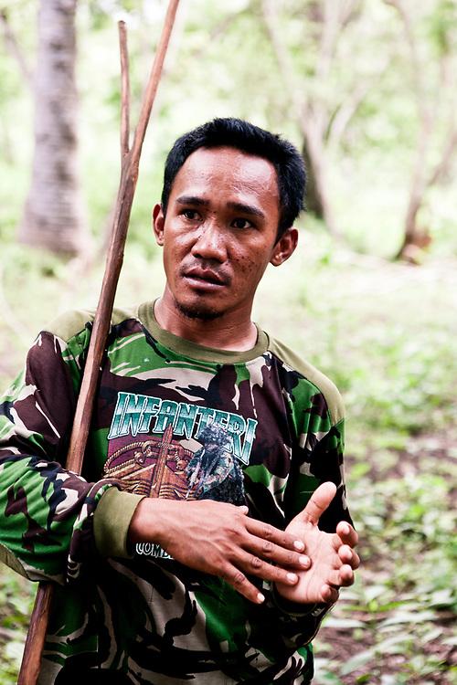 Park ranger on Komodo Island National Park.
