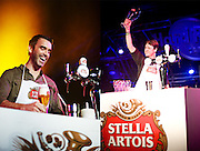 The Stella Artois Draught Masters competition at the Las Vegas Hard Rock Cafe.