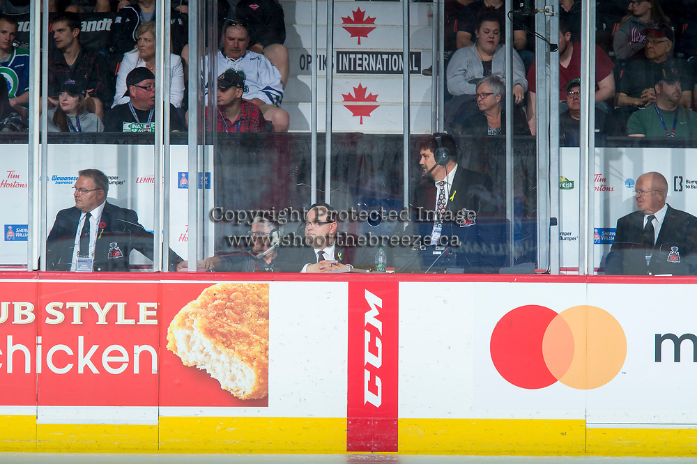 REGINA, SK - MAY 21: Ice officials at the Brandt Centre on May 21, 2018 in Regina, Canada. (Photo by Marissa Baecker/CHL Images)