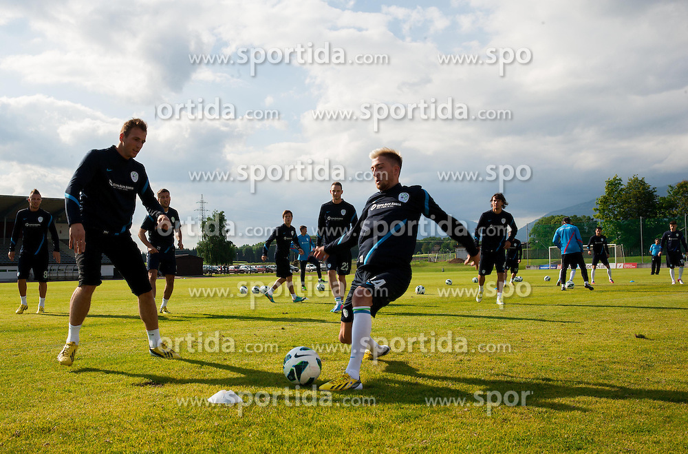 Kevin Kampl during practice session of Slovenian National football team at training camp on May 28, 2013 in Sports park Kranj, Slovenia. (Photo By Vid Ponikvar / Sportida)