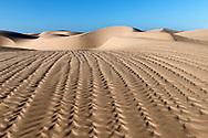 Beautiful desert sand dunes of Lac Naila, Morocco.