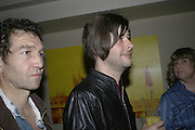 Greg Hix and Chris Meads, The 25th hour post party at the Plaza on the River, 18 Albert Embankment. Culmination of the 24 Hour Plays Celebrity Gala at the Old Vic.London. 8 October 2006.  -DO NOT ARCHIVE-© Copyright Photograph by Dafydd Jones 66 Stockwell Park Rd. London SW9 0DA Tel 020 7733 0108 www.dafjones.com