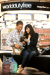 London Heathrow Terminal 5 WDF lifestyle retail shoot. Pic David Poultney