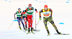 19.02.2016, Salpausselkae Stadion, Lahti, FIN, FIS Weltcup Nordische Kombination, Lahti, Langlauf, im Bild v.l.: Akito Watabe (JPN, 2. Platz), Sieger Eric Frenzel (GER) // f.l.: 2nd placed Akito Watabe of Japan, Winner Eric Frenzel of Germany competes during Cross Country Gundersen Race of FIS Nordic Combined World Cup, Lahti Ski Games at the Salpausselkae Stadium in Lahti, Finland on 2016/02/19. EXPA Pictures © 2016, PhotoCredit: EXPA/ JFK