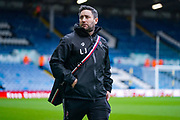 Lee Johnson of Bristol City (Manager) arrives at the ground during the EFL Sky Bet Championship match between Leeds United and Bristol City at Elland Road, Leeds, England on 15 February 2020.