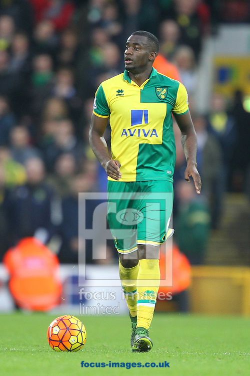 Sebastien Bassong of Norwich during the Barclays Premier League match at Carrow Road, Norwich<br /> Picture by Paul Chesterton/Focus Images Ltd +44 7904 640267<br /> 24/10/2015