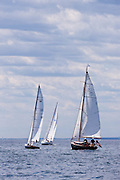 Breeze sailing in the Corinthian Classic Yacht Regatta.