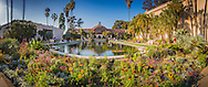 Balboa Park reflecting pool and Botanical Building, San Diego, California