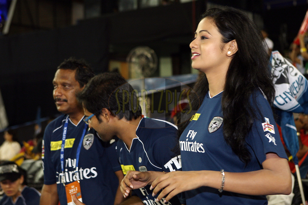 Actress Archita Sahu during match 29 of the the Indian Premier League ( IPL) 2012  between The Deccan Chargers and the Kolkata Knight Riders held at the Barabati Stadium, Cuttack on the 22nd April 2012..Photo by: Jacques Rossouw/IPL/SPORTZPICS