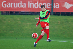 KIRKBY, ENGLAND - Tuesday, January 5, 2016: Liverpool's Jon Flanagan warms-up before the Under-21 Friendly match against Morecambe at the Kirkby Academy. (Pic by David Rawcliffe/Propaganda)