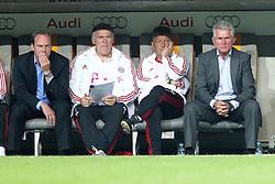 27.07.2011, Allianz Arena, Muenchen, GER, Audi Cup 2011, Finale,  FC Barcelona vs FC Bayern , im Bild Christian Nerlinger (Sportdirektor Bayern) Hermann Gerland (Co-Trainer Bayern) Jupp Heynckes (Trainer Bayern)  // during the Audi Cup 2011,  FC Barcelona vs FC Bayern  , on 2011/07/27, Allianz Arena, Munich, Germany, EXPA Pictures © 2011, PhotoCredit: EXPA/ nph/  Straubmeier       ****** out of GER / CRO  / BEL ******