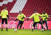 AMSTERDAM, NEDERL&Auml;NDERNA - 2017-10-09: John Guidetti under tr&auml;ning inf&ouml;r FIFA 2018 World Cup Qualifier mellan Nederl&auml;nderna och Sverige p&aring; Amsterdam ArenA  den 9 oktober, 2017 i Amsterdam, Nederl&auml;nderna. <br /> Foto: Nils Petter Nilsson/Ombrello<br /> ***BETALBILD***