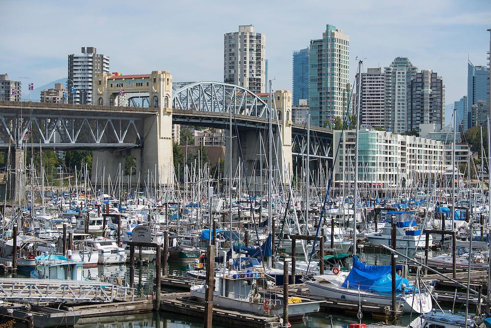 Canada, British Columbia, Vancouver , Burrard bridge at Granville island