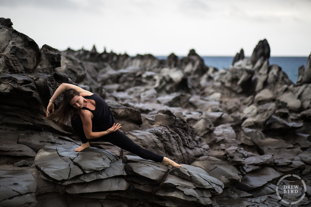Elanore Bramwell | Yoga <br /> Dragon's Teeth | Lahaina, Maui<br /> <br /> <br /> Drew Bird Photography<br /> San Francisco Bay Area Photographer<br /> Have Camera. Will Travel.