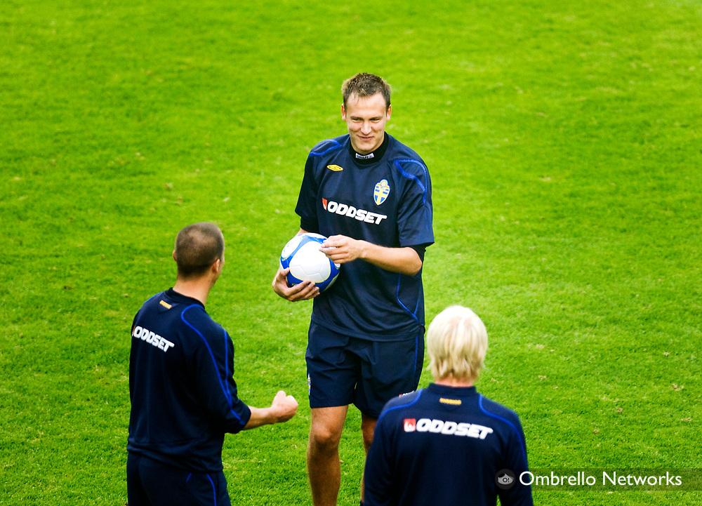 STOCKHOLM 080908<br /> TR&Auml;NING FOTBOLLSLANDSLAGET VM-KVAL<br /> I bild: Andreas Granqvist