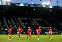 Bristol City players warm up at Hillsborough - Mandatory by-line: Matt McNulty/JMP - 13/09/2016 - FOOTBALL - Hillsborough - Sheffield, England - Sheffield Wednesday v Bristol City - Sky Bet Championship