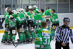 Winners players of  EHC Bregenzerwald celebrate during 5th game of final INL league ice hockey match between HK Playboy Slavija and EHC Bregenwald at Dvorana Zalog, on April 3, 2013, in Ljubljana, Slovenia. (Photo by Matic Klansek Velej / Sportida)