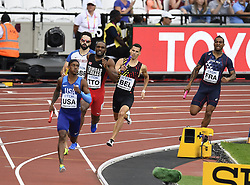 August 12, 2017 - London, England - LONDON , UNITED KINGDOM  - AUGUST 12 : Kevin Borlee of Belgian team relay pictured during 4X400 M  heat 1 at the16th IAAF World Athletics championships from august 4 till 13, 2017 in London ,United Kingdom, 12/08/2017 (Credit Image: © Panoramic via ZUMA Press)