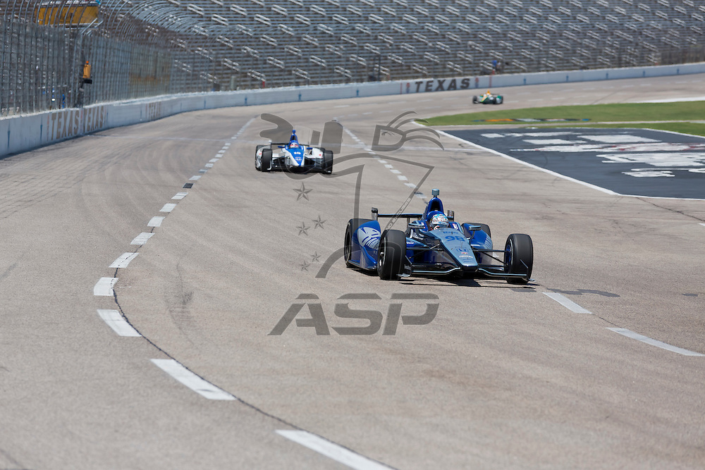 Ft WORTH, TX - JUN 08, 2012:  Alex Tagliani (98) prepares to qualify for the Firestone 550 race at the Texas Motor Speedway in Fort Worth, TX.