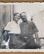 happy adult couple posing for a picture France ca 1940s