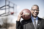 Photos taken of Mayor of Warrensville Heights Bradley Sellers at the city owned basketball courts in Warrensville Heights on April 30, 2013.