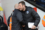 Walsall manager Jon Whitney and Oldham manager John Sheridan during the EFL Sky Bet League 1 match between Walsall and Oldham Athletic at the Banks's Stadium, Walsall, England on 4 March 2017. Photo by Jacqueline Theodosi.