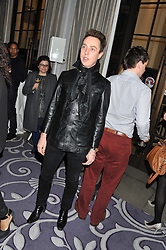 JAMES BROWN at a party hosted by Vauxhall Motors to celebrate their collaboration with menswear designer James Small following his Autumn/Winter 2012 show during London Fashion Week held at Corinthia Hotel, London on 22nd February 2012.