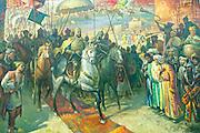 Uzbekistan, Tashkent. Amir Timur (Temerlane) Museum. Tamerlane on a horse.