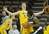 NCAA Women's Basketball - Michigan St at Iowa - January 27, 2011