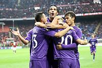 """Esultanza Borja Valero Fiorentina<br /> Goal celebration<br /> Milano 10/11/2012 Stadio """"San Siro""""<br /> Football Calcio Serie A 2012/13<br /> Milan v Fiorentina<br /> Foto Insidefoto Paolo Nucci"""