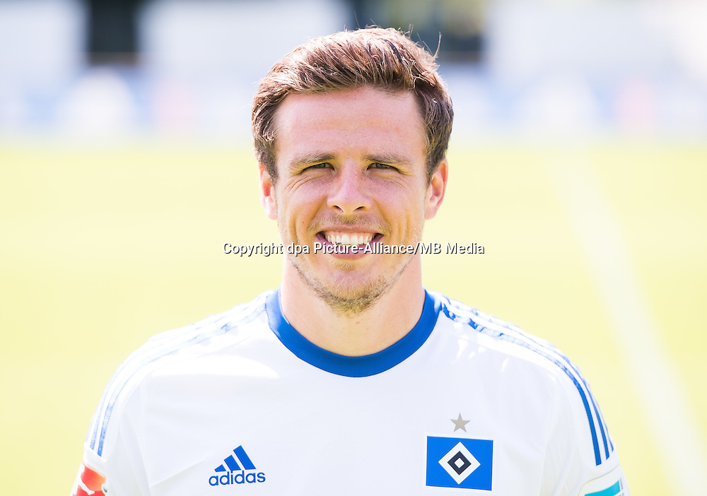 German Soccer Bundesliga 2015/16 - Photocall of Hamburger SV on 15 July 2015 in Hamburg, Germany: Nicolai Mueller