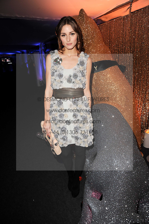OLIVIA PALERMO at a party to celebrate the Mulberry Autumn Winter 2010 collection held at The Orangery, Kensington Palace, London on 21st February 2010.
