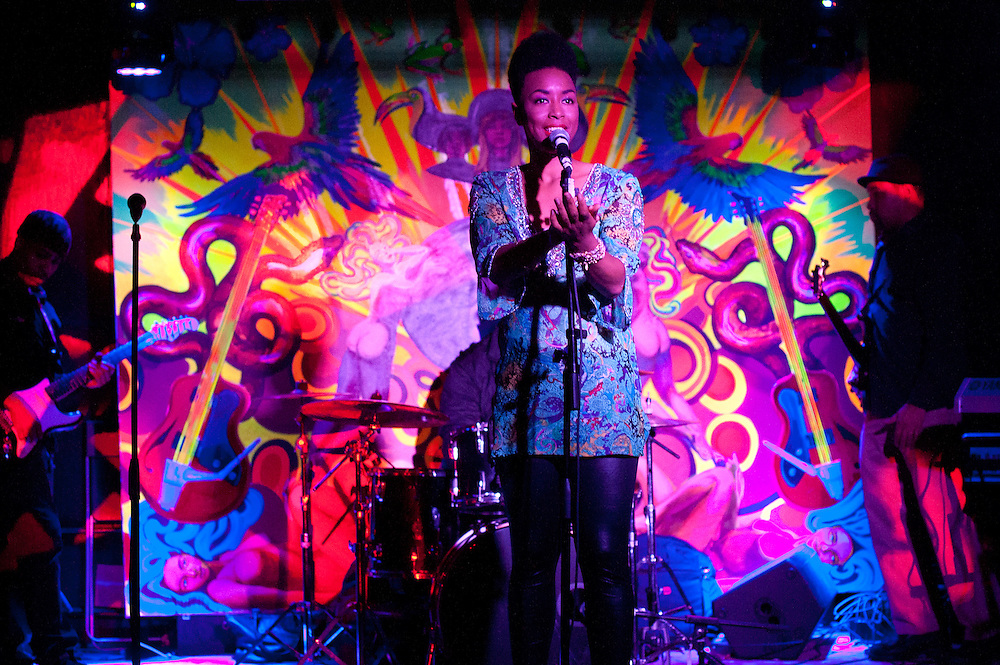 "Washington, DC  - Hip Hop Pantsula, Carolyn Malachi, Wayna, and The ELs join Asheru at Tropicalia for the ""Sleepless in Soweto"" album release party."