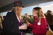 OLIVIA INGE; NATALIE PINKHAM, Hennessy Gold Cup, The Racecourse Newbury. 30 November 2013.