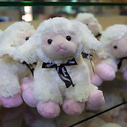 Cuddly sheep toys at Rainbow Springs Shop; Fairy Springs Road. Rotorua, New Zealand. 10th December 2010 Photo Tim Clayton