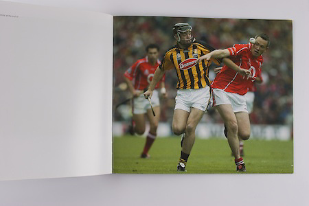Cork's John Brown and Kilkenny's Conor Phelan tussle for the sliotar at the end of the 2004 All-Ireland Final.