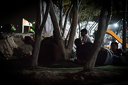 3 October 2018, Jerusalem, Occupied Palestinian Territories: As night falls, men, women and children lay down on simple mattresses to rest through the night, not knowing how long the community will be allowed to remain in Khan al Ahmar. Khan al Ahmar is a Bedouin community located within the East Jerusalem Periphery, in E1 area. It is home to 32 families, 173 persons in total, including 92 children and youths. The community has a mosque and a school, which was built in 2009 and serves more than 150 children between the ages of six and fifteen, from Khan al Ahmar and other nearby communities. With due date 1 October 2018, Israeli authorities threaten to demolish the site, thereby making room for nearby Israeli settlements to expand.