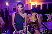 SASHA VOLKOVA; RACHEL BARRETT, Dinner and party  to celebrate the launch of the new Cavalli Store at the Battersea Power station. London. 17 September 2011. <br /> <br />  , -DO NOT ARCHIVE-© Copyright Photograph by Dafydd Jones. 248 Clapham Rd. London SW9 0PZ. Tel 0207 820 0771. www.dafjones.com.