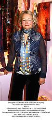 Designer GEORGINA VON ETZDORF at a party in London on 26th November 2003.<br /> POY 1