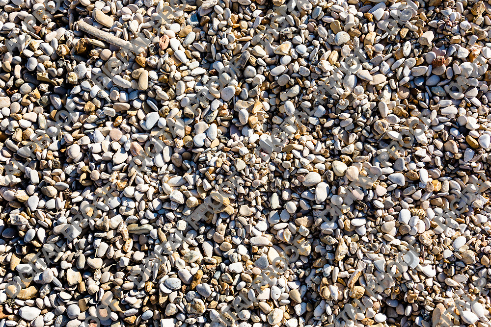 Pebble stones on the shore