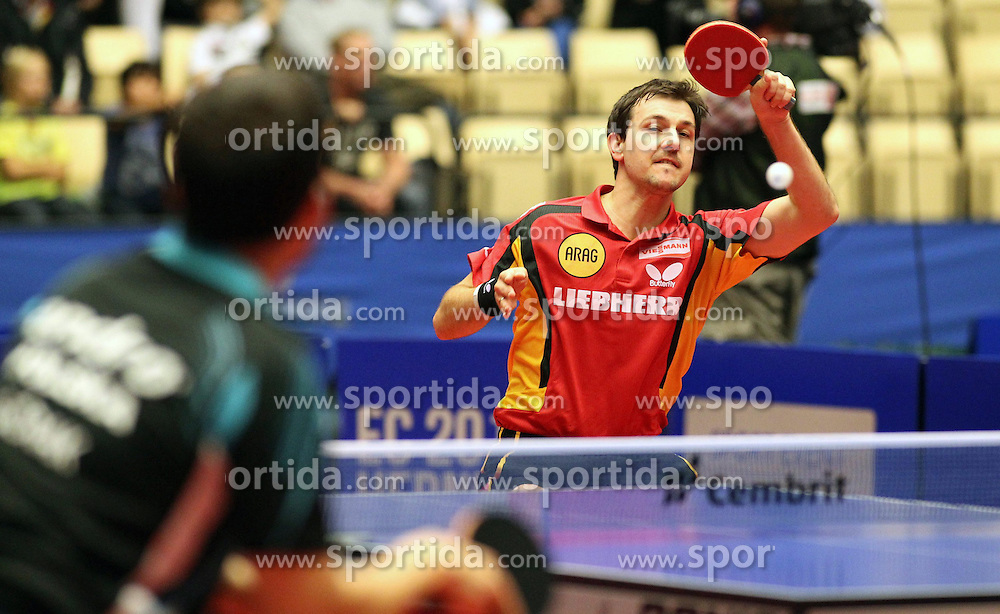 20.10.2012, MGH Arena, Herning, DEN, ETTU, Tischtennis Europameisterschaft, im Bild Timo BOLL (GER) bei der Ballannahme // during the Table Tennis European Championships at the MGH Arena, Herning, Denmark on 2012/10/20. EXPA Pictures © 2012, PhotoCredit: EXPA/ Eibner/  Wuest..*****ATTENTION - OUT OF GER *****