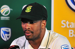 Cape Town 180108 South African fast bowler Vernon Philander talking about his perfomance on day 4  of the Sunfoil Cricket test at Newlands Stadium.Picture:Phando Jikelo/African News Agency(ANA)