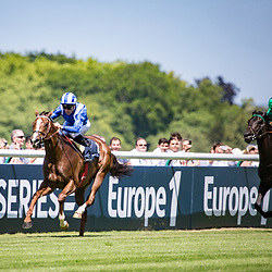 Taareef (I.Mendizbal) wins Gr.3 Prix Bertrand de Breuil Longines Chantilly, France 18/06/2017, photo: Zuzanna Lupa / Racingfotos.com