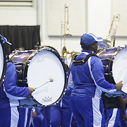 Members of the Elizabeth City State University perform  Saturday January 19, 2015 during the Historically Black College and University Experience at the Schwartz Center on the Campus of Cape Fear Community College in Wilmington, N.C. (Jason A. Frizzelle)